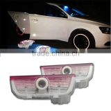 For Shoran 12~ 2X3D Logo LED projector car door courtesy welcome ghost shadow light/LED welcome ghost shadow light for VW