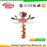 TH-EA6803 42.5CC gas powered post hole digger for tree transplanting the post hole