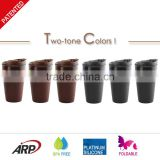 350ml BPA Free LFGB Customerize Drinking cup Silicone Collapsible Coffee Mug for traveling