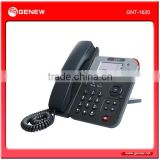 Genew Enterprise-class IP phone GNT-1620 with LCD and HD voice Home Office and ISP applications.
