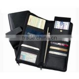 Multifunctional men leather travel wallet