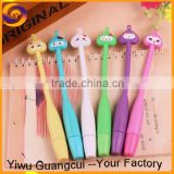 Soft long body onion head colorful ball point pen