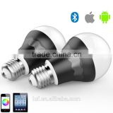 2015 new Bluetooth Smart LED Light Bulb - Dimmable Multicolored Color Changing LED Lights - Smartphone Controlled, 7 Watt