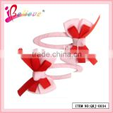 2014 Hot sale Valentines day hair clips fancy grosgrain robbon curved bobby pins (QRJ-0034)