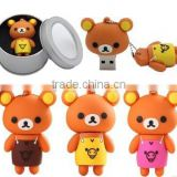 Lovely bear pvc usb flash drive,cartoon character usb flash drive,cute cartoon usb flash memory