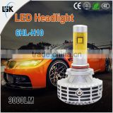 Factory supply powerful lumens Mini easy installation led head lamp 25w for all cars with heat dissipation