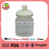 Tea ceramic airtight lid glass canister