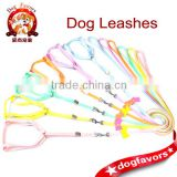XS size Nylon Dog Leash and Dog Collar Set with Leather Doggy shape Decorates, 2014 New Design