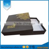 Customized High Quality Hot Stamping Gold Logo Decorative Cardboard Boxes With Lids /Luxury Packing Box