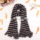 Stripe 100% Nylon Fashion Women's Winter Changeable Microfiber Magic Scarf Long Warm Stretchy Wrap Shawl Ladies Scarves