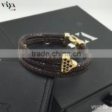 925 silver diamond bracelet 2015 christmas gift Hot sales new models bracelets Silver stingray bracelet with Cites Certificate