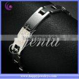 Hottest ! alibaba recommend white gold plated 316l stainless steel jewelry bracelet (DSH009)
