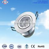 3w LED ceiling lamp component aluminum alloy round CE&RoHS,used for shopping mall,supermarket,hotel,high-grade household