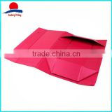 Hot Sale Rose-Colored Foldable Cardboard Box With Rope Handle