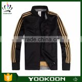 Juventus Black Jacket custom classicical polyester woman man sport bomber jacket wholesale