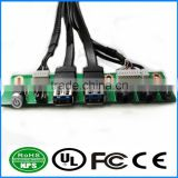 Dual USB3.0+LED+Power Switch+HD Audio I/O Cable Computer Case Front Panel Cable Motherboard Connection Cable For PC