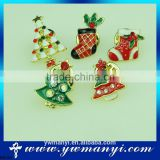 Set of 12 Vintage Christmas Brooch Lot Holiday Brooch Christmas Tree Snowman Xmas Brooch Pin Lot B0126