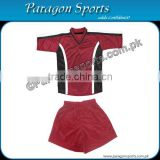 Maroon and Black Soccer Uniform