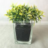yiwu small new fake foliage plant bonsai with glass pot