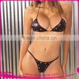 Black Very Hot Sexy Women Short Panty Underwear Bra Set