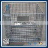 Foldable Galvanized & Powder Coated Metal Wire Mesh Container                                                                         Quality Choice