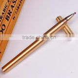Vintage Unique Ballpoint Pen Golden Handmade Shiny Brass Copper Gel Pen with Pen Bag Gift Office School Stationery Supplies