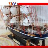 Great Yacht Scale Assembly handcraft Wooden Sailing Boat Model