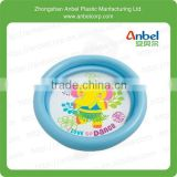TODDLER/KIDS/BABY 2 RINGS PADDLING SWIMMING POOL SWIM OUTDOOR GARDEN INFLATABLE BLUE RING ELEPHANT PATTERN