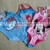 Hello Kitty Micky mouse printed children swimwear baby swimsuit beach dress baby girls one piece swimming suit                                                                         Quality Choice