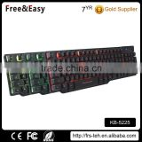 Factory wholesale price led backlight RGB USB wired gamer keyboard