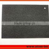 Shiny black stone design embossed rubber soling sheets for shoe from Atom Shoes Material Limited