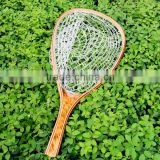 High End Fly fishing Rubber Burl Wood landing net                                                                         Quality Choice