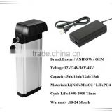 CE approved 24 volt battery pack e-bike battery 24 volt lithium battery pack for electric bike