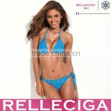 The Shape of Sexy - RELLECIGA Bright Blue Simply Stunning Triangle Top Bikini Set with Golden Hardware Rings