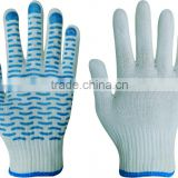 SRSAFETY lady gardening gloves with pvc dotted on palm work gloves,China supplier