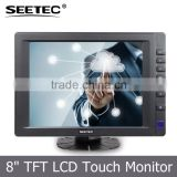 "8"" car display vga hdmi input tft lcd led touch panel monitor with sks cable"
