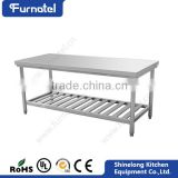 High Quality Wholesale Restaurant SS201/304 Steel Work Bench With Drawers