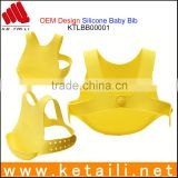 Alibaba New Products 100% Silicone Baby Safe Material Waterproof Soft Silicone Disposable Baby Bib for Restaurants