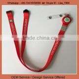 Swivel metal trigger clip lanyard safety break lanyard