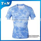 60% cotton 40% polyester t-shirts plain blue sublimated unisex dri fit comfort colors t-shirts