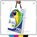 Professional custom t shirt picture paper bag printing support 2014 brazil world cup