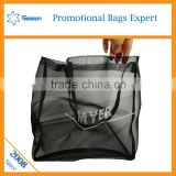 Beach mesh bag wholesale zipper leno net mesh produce bags                                                                                                         Supplier's Choice