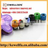 2016 High quality Abalone shell Bore Drip Tip 510 Drip Tip acrylic Box Mod Summit Style Top Cap Drip Tips in stock