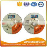115x6.0x22.23mm depressed center grinding Wheel for inox
