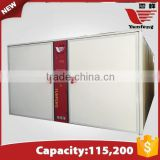 YFDF-115200 high quality commercial poultry incubator/10000 egg incubator/chicken hatchery