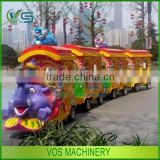 Amusement park rides elephant trackless train hot sale, movable electric train rides for sightseeing car