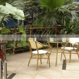 outdoor garden furniture dining set bamboo-look finish