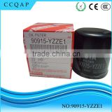 Manufacturers china auto spare parts car engine genuine types of oil filter for toyota 90915-yzze1