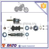 Motorcycle engine parts countershaft and mainshaft kick starter spindle