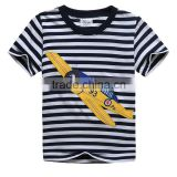2016 New children striped short sleeve T-shirt cartoon printed baby boys t-shirts cotton clothing kids tees girls tops